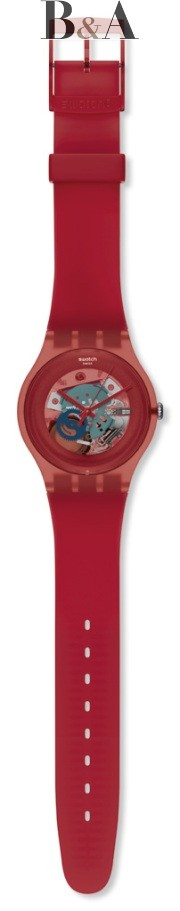 Swatch New Gent Lacquered Red