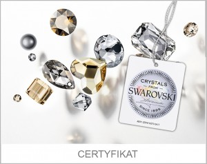 BRANSOLETKA SPARK BICONE CRYSTAL BE63015301C