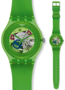 Swatch New Gent Lacquered Green