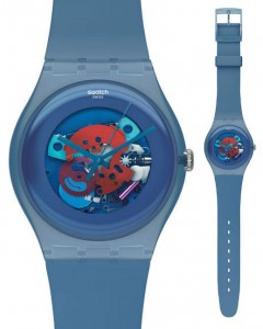 Swatch New Gent Lacquered Blue Grey