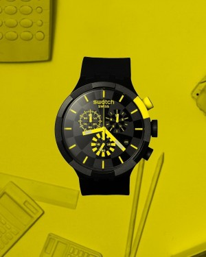 Swatch BIG BOLD CHECKPOINT YELLOW SB02B403