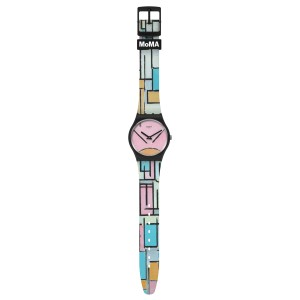 Swatch MOMA COMPOSITION IN OVAL WITH COLOR PLANES 1 BY PIET MONDRIAN Limited Edition GZ350