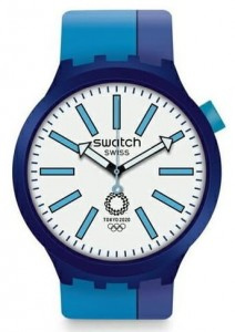 Swatch BIG BOLD AI BLUE TOKYO 2020 OLYMPICS SPECIAL EDITION  SO27Z100